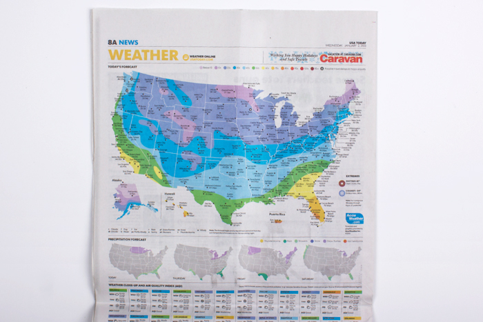 Developing A Visual Language USA Todays Graphics Rebranded - Todays weather map us